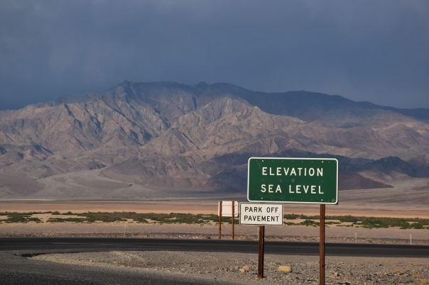 Death Valley, Sea level
