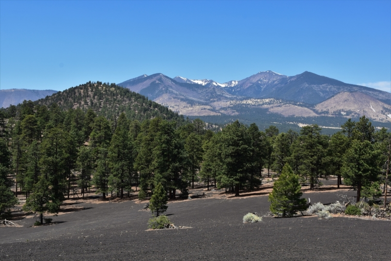 Sunset Crater Volcano National Monument, Lennox Crater, San Francisco Peaks