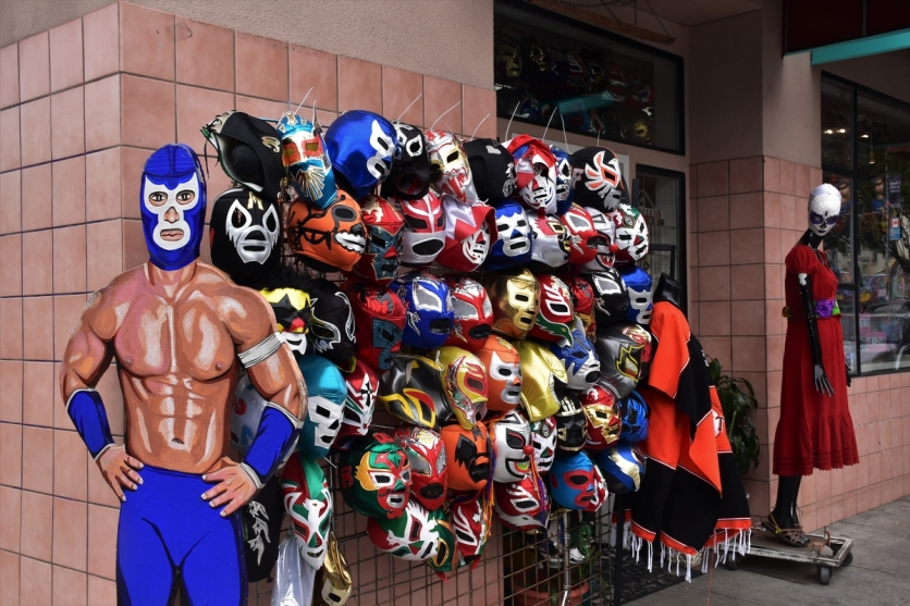 San Francisco, Mission District, wrestling masks