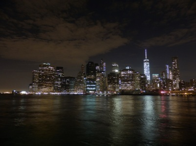 New York, Manhattan by night