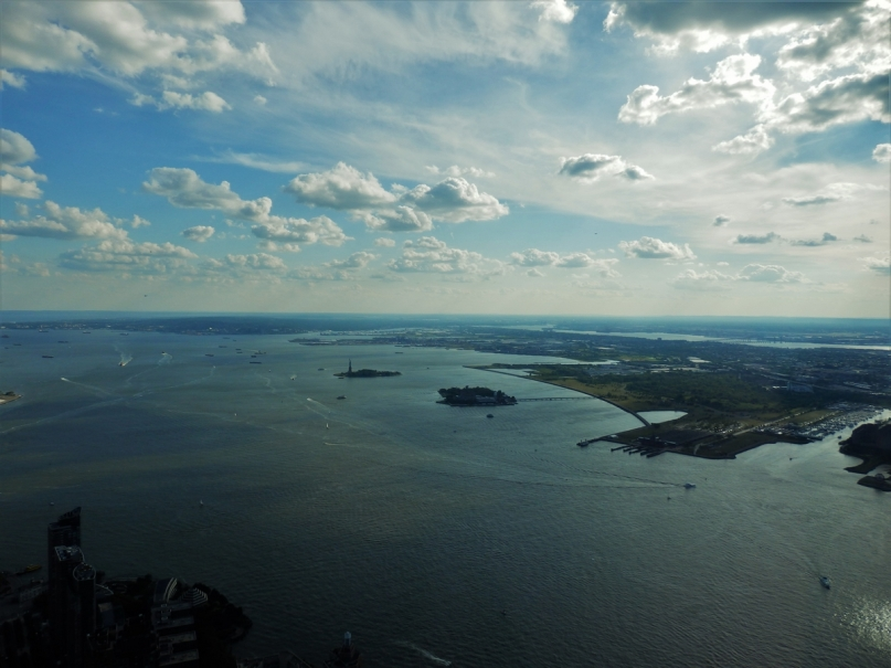New York, One World Trade Center, Upper Bay, Ellis Island, Statue of Liberty
