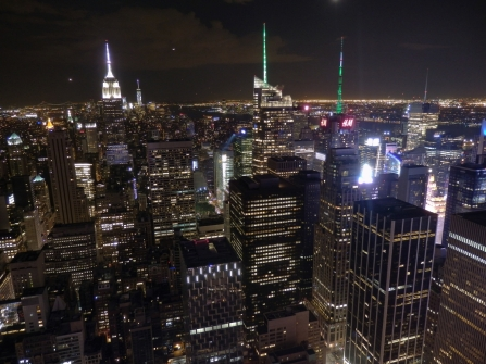 New York, Rockefeller Center, night, Times Square