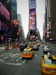 New York, yellow cabs, Times Square