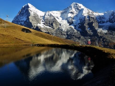 Eiger, Mönch, lake