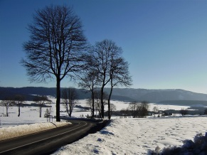 La Sagne Valley, snow, winter