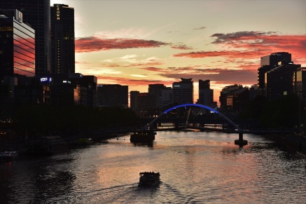 Melbourne, Yarra River, sunset