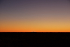 Sunset, outback
