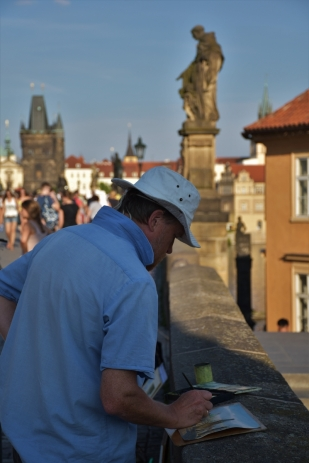 Charles Bridge, Prague, painter