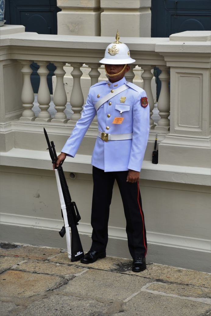 Bangkok, the Grand Palace, soldier