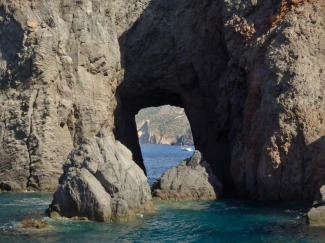 Lipari, natural arch, Aeolian Islands