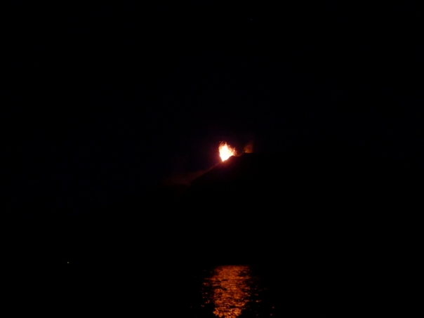 Stromboli, eruption, night