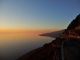 Sunset, Lavaux, Lake Geneva