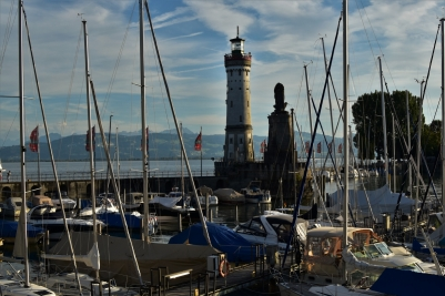 Boats in the harbour of Lindau