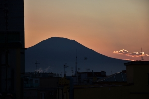 Naples, Mount Vesuvius, sunrise