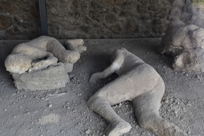 Pompeii, casts of bodies