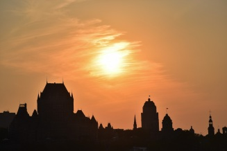 Quebec City, sunset