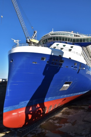Saint-Nazaire, Celebrity Edge, Normandie dry dock