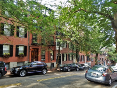 The lovely district of Beacon Hill, Boston