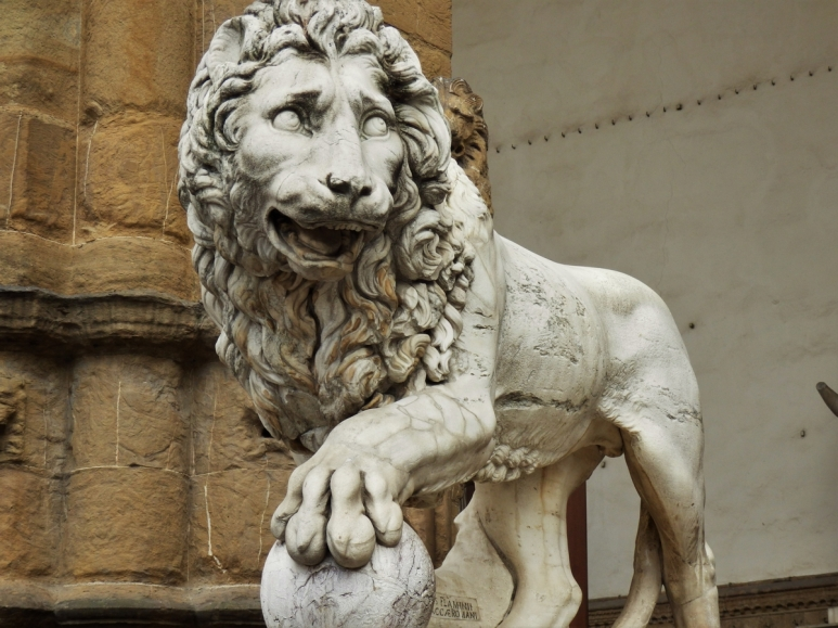 Florence, statue, lion