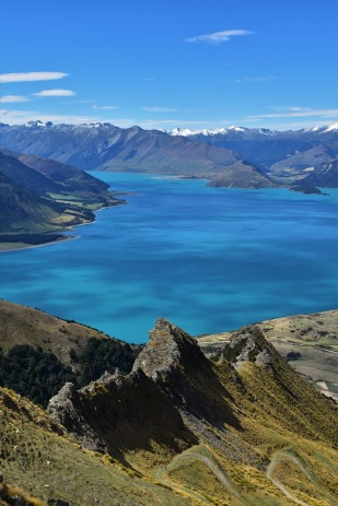 Hiking to Isthmus Peak near Wanaka