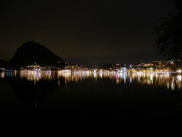 Lugano, night, San Salvatore