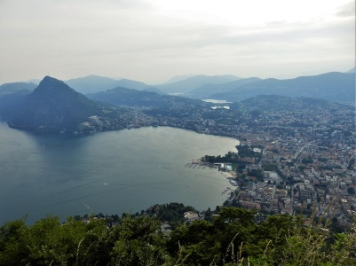 Lugano seen from Monte Brè