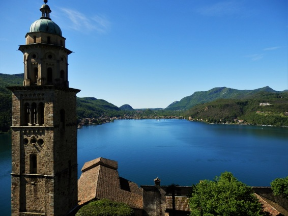 Morcote, Lake Lugano, church