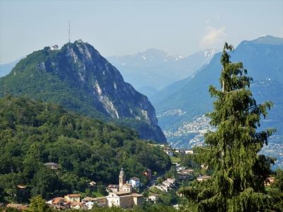 Hiking between Morcote and Lugano, Carona, San Salvatore