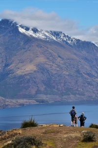 People on the summit of Queenstown Hill