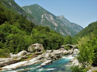 Verzasca Valley and the Verzasca Bridge
