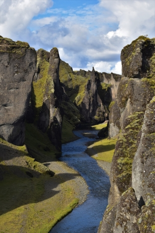The canyon of Fjardragljufur, Iceland