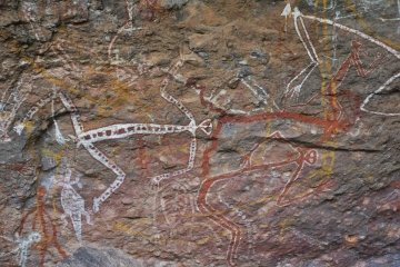 Aboriginal paintings at Nourlangie Rock, Kakadu