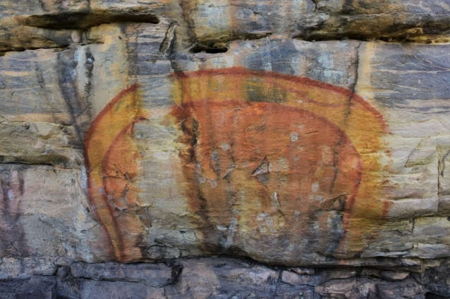 Aboriginal paintings at Ubirr, Rainbow Serpent, Kakadu