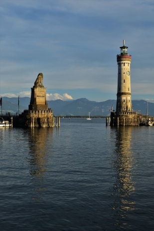The entrance to the harbour of Lindau
