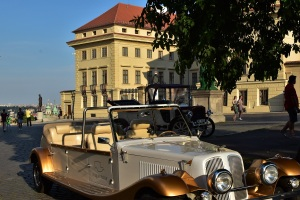 Prague Castle, car