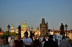 Prague, Charles Bridge, sunset