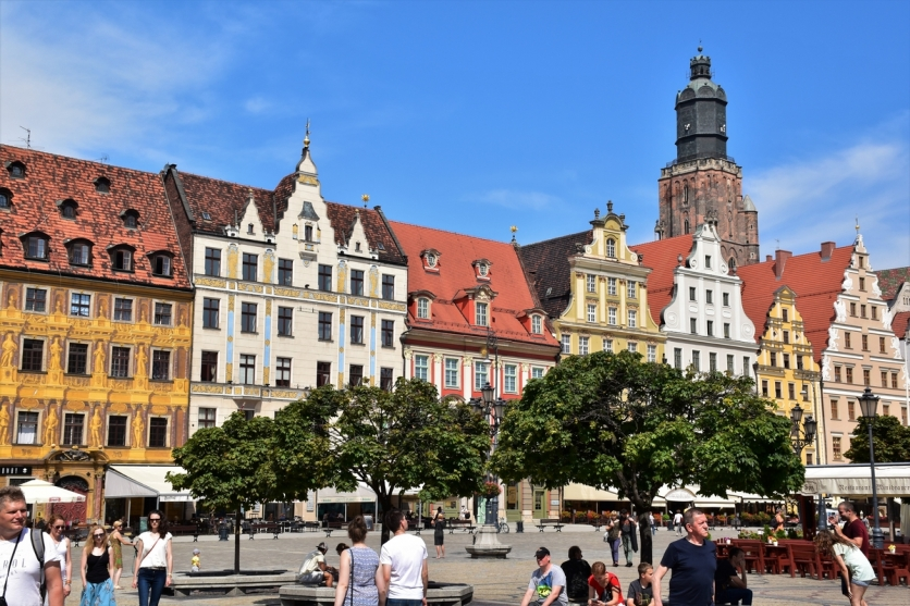 Wroclaw, Market Square, St Elizabeth's Church