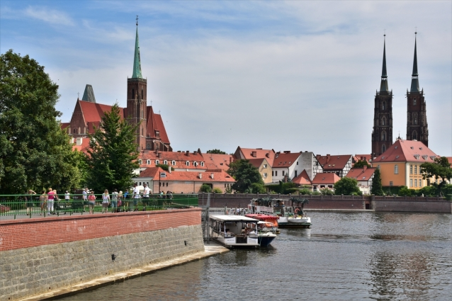 Wroclaw, Oder, Cathedral Island