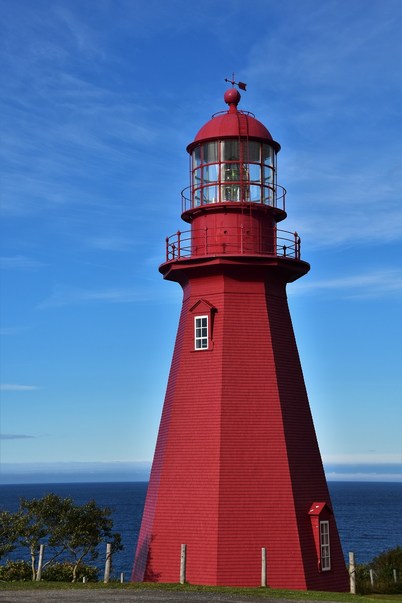 A beautiful lighthouse in Gaspésie
