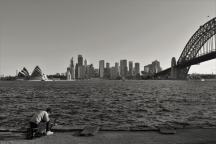 Sydney Opera House, fisherman