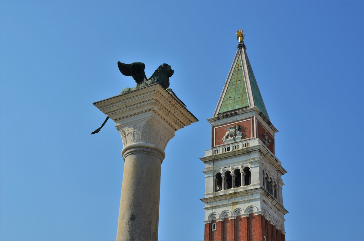 Venice, Lion of Saint Mark, Campanile