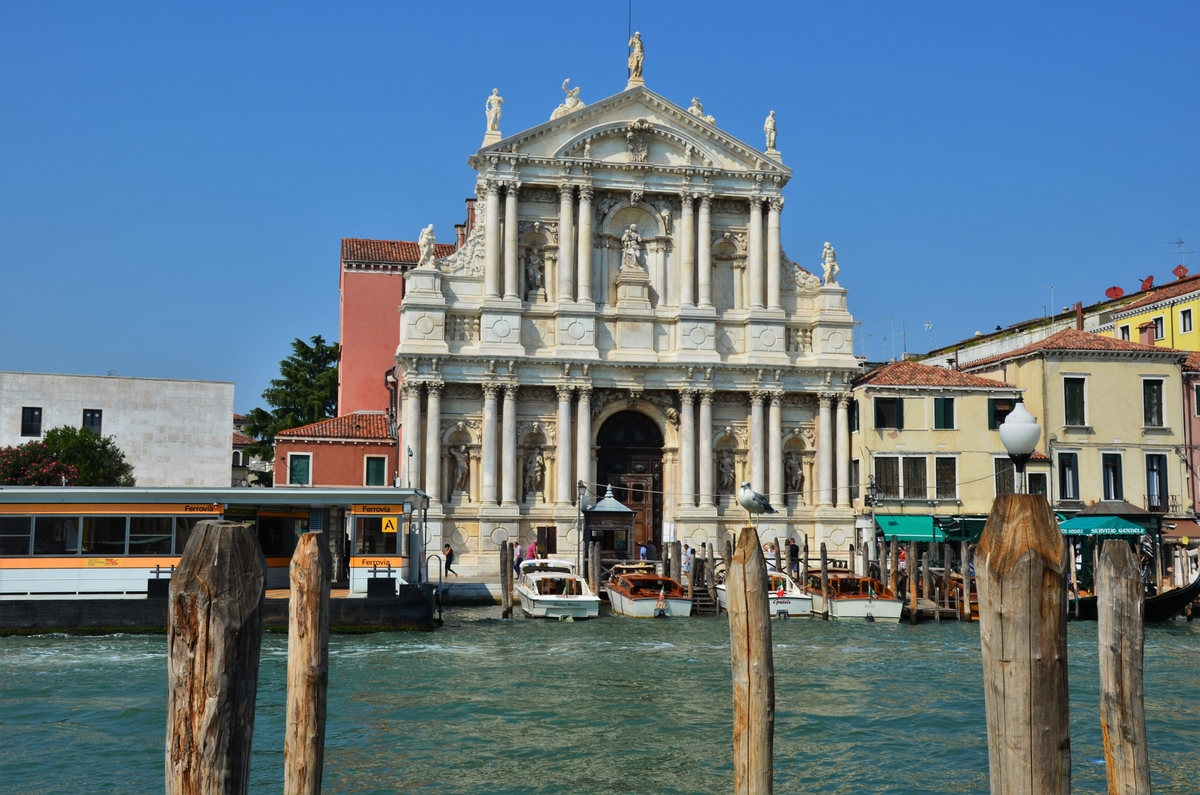 Venice, Grand Canal, Church of the Scalzi