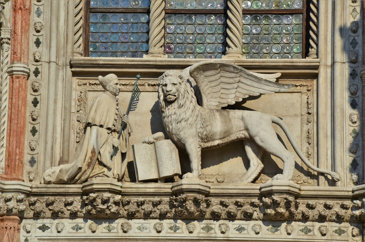 Venice, Doge's Palace, Lion of Saint Mark