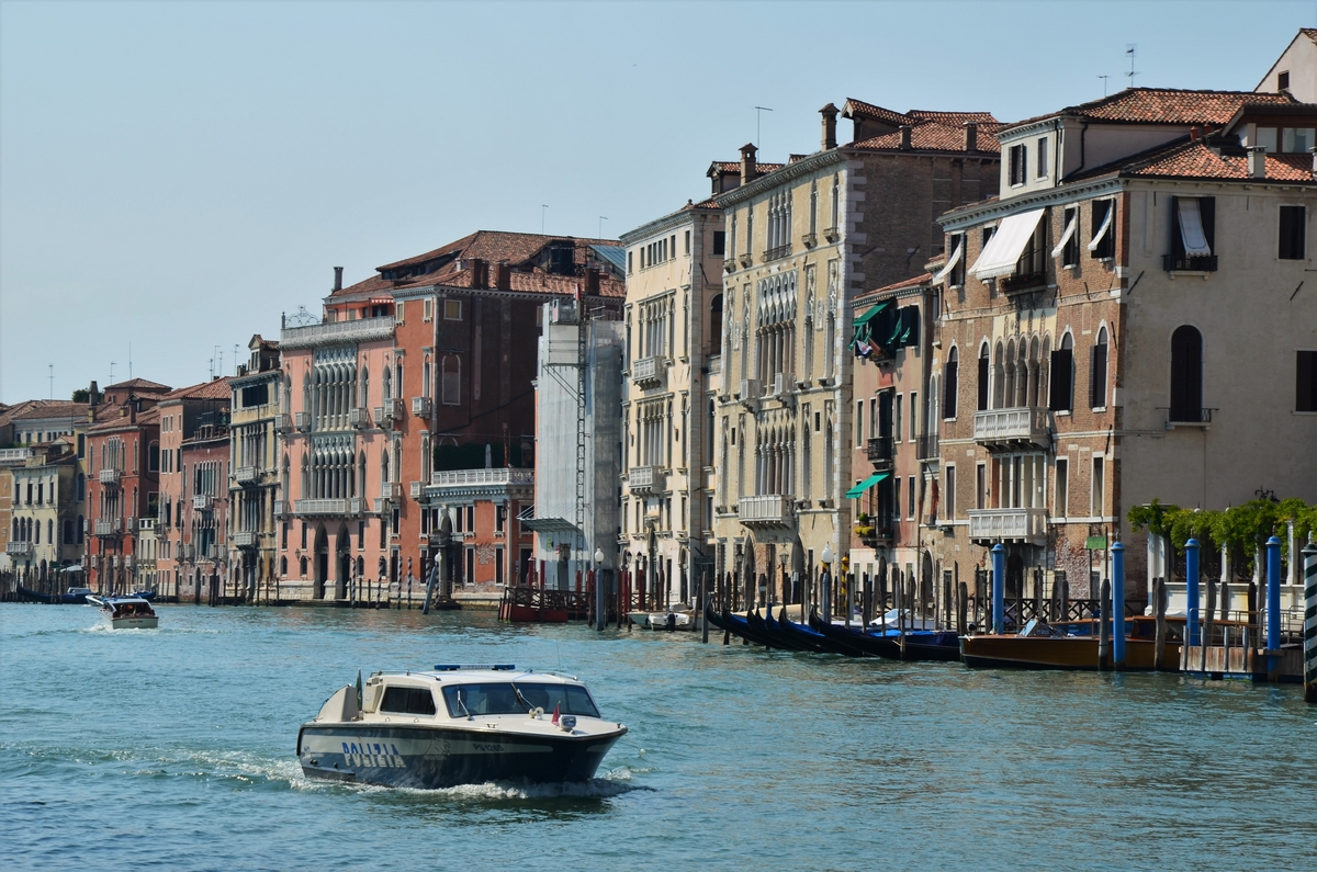 Venice, Grand Canal, police boat