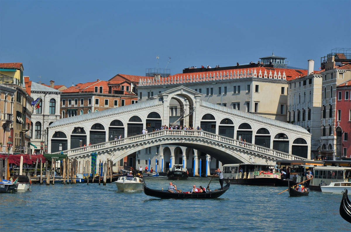 Venice, Grand Canal, Rialto Bridge