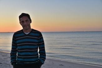 Enjoying the sunset on the Mornington Peninsula near Melbourne